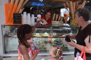 Ordering a gelato in Sarajevo.