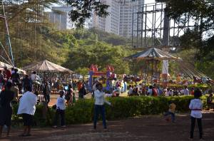 Children having a fun day at Uhuru Park