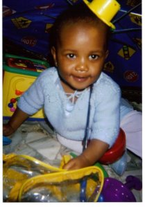 Little Miss Ashley at seven months.